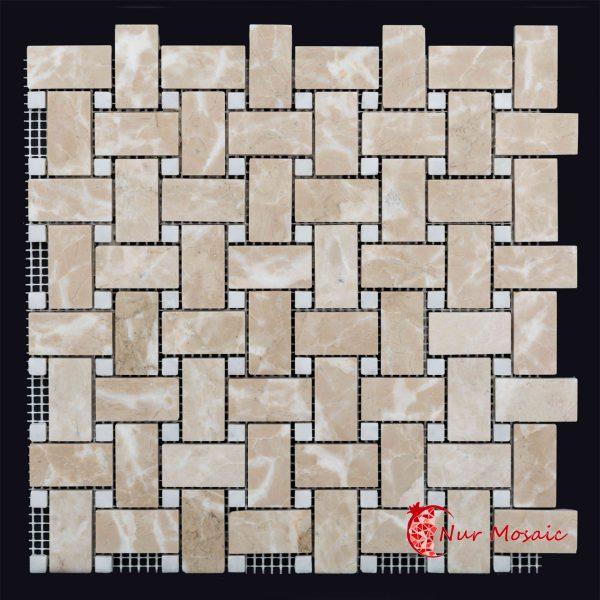 basket mosaic tile