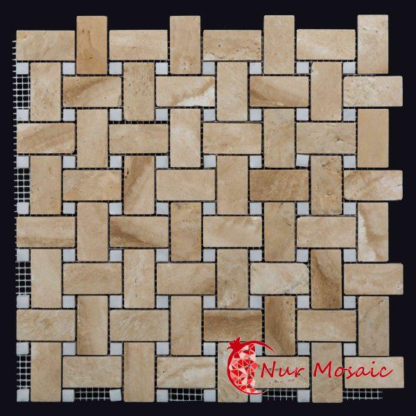 Basketweave Mosaic Tile
