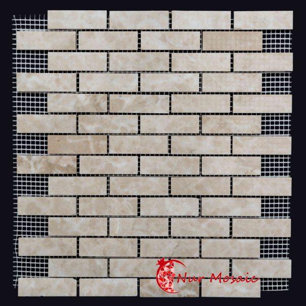 Beige Marble Brick Mosaic
